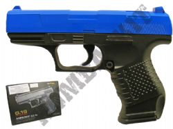 G19 Metal Airsoft BB Gun Black and Blue